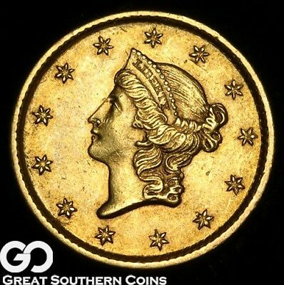 1854 Gold Dollar, $1 Gold Liberty, Type 1, Gem BU++