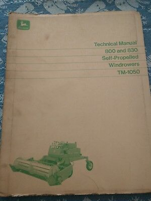 John Deere 800 and 830 windrowers technical manual dealers copy