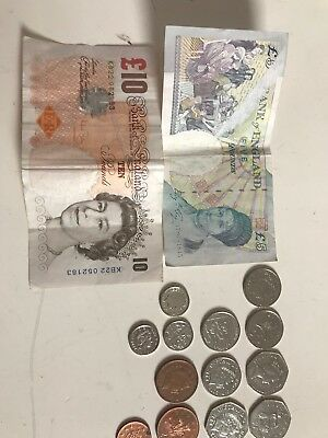 Lot of Circulated British Pounds coins paper cash money sterling old and current