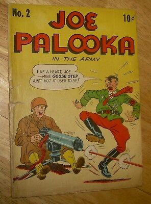 JOE PALOOKA Comics #2 scarce joins the army WWII HITLER cover Columbia no rsv