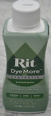 RIT Liquid Synthetic Fabric Dye, DyeMore Synthetic, 207ml PEACOCK GREEN