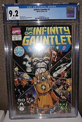 Infinity Gauntlet #1 - CGC 9.2 White Pages - Thanos