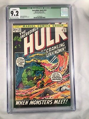 "The Incredible Hulk #151 (May 1972, Marvel) CGC 9.2 ""THE CRAWLING UNKNOWN"" NM- Q"