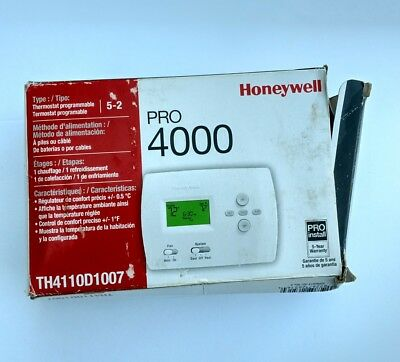 Honeywell Pro 4000 Heat and Cool Digtal 5-2 Programmable Thermostat in White