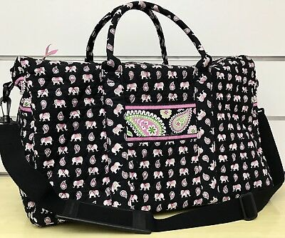 Vera Bradley Weekender Travel Bag in Pink Elephants