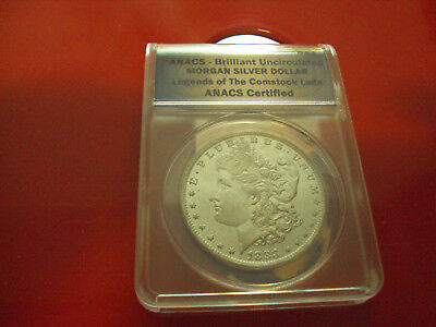 1883-O $1 Morgan Silver Dollar  ANACS  Certified In Case Beautiful Uncirculated