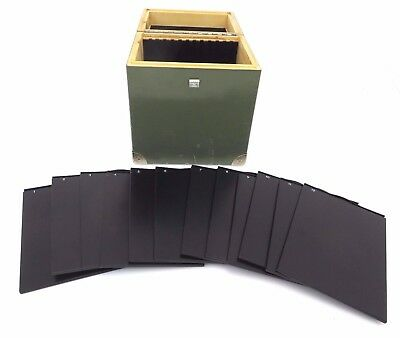 Filmkassette 12x Planfilmkassette Cut Film holder 13x18 cm Holzbox ly027