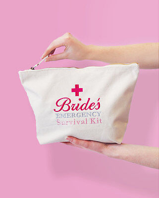 Bride's Emergency Survival Kit Bag Gift for a Bride to Be, Wedding Day Essential