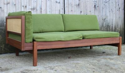 Guy Rogers Beverly hills studio daybed- rattan & teak frame mid century retro