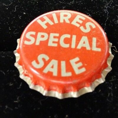 "Unused lot of 50- ""Hires Special Sale"" Bottle Caps Crowns-CORK LINED-"