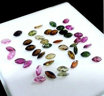VVS 42 Pcs Certified Lot Natural Tourmaline Finest Quality Unheated Gems 8x4mm