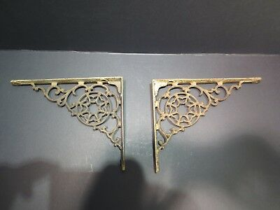 Pair Antique Victorian fancy shelf brackets  NO RESERVE