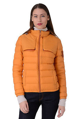 PIQUADRO Size 42 / XS Women's Down Stitched Travel Jacket With Concealed Hood
