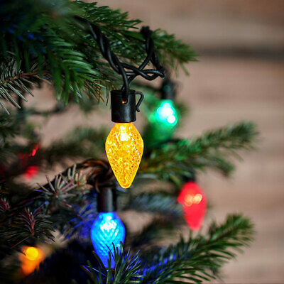 ConnectPro Plug In Outdoor Christmas Pinecone LED String Lights | Garden Tree