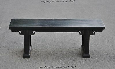 Old Chinese Rosewood Carved Classical furniture Seat chair Wooden Benches stools
