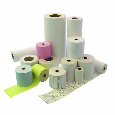 50 Receipt Rolls 62/50M/12 Thermal Scales Paper Green For Mettler etc
