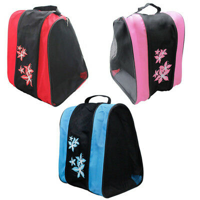 Unisex Roller Skating Bags Adjustable Shoulder Strap Skates Carry Handbag Large