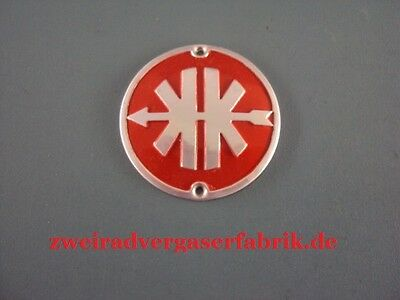 Emblem for Legshield Kreidler Florett eiertank Models Red Silver
