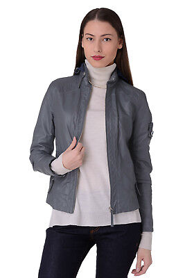 RRP €672 PIQUADRO Size 42  / XS Open-Work Kangaroo Leather Jacket Made in Italy