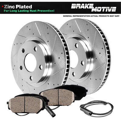Front 330 mm Quality Brake Rotors and Ceramic Pads Kit 2006 BMW 330Xi E90 AWD