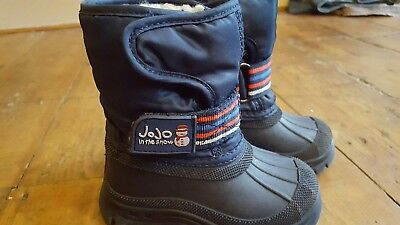 JoJo Maman Bebe Navy Blue Girls or Boys  Snow Boots, Size 21 (4).