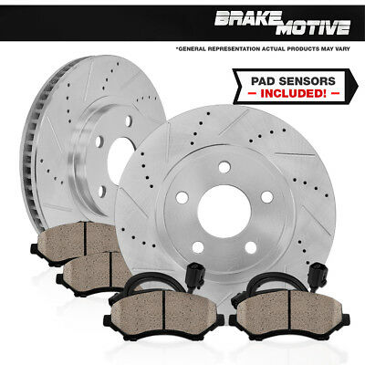 Front 288 mm Brake Rotors and Ceramic Pads MERCEDES BENZ C230 C280 E300 SLK230