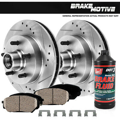 Front Drilled And Slotted Brake Rotors & Ceramic Pads 91-96 Caprice 94-96 Impala