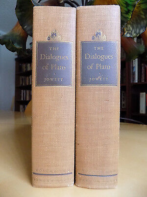 The Dialogues of Plato in Two Volumes ~ B. Jowett, M. A. ~ 1937, 4th Edition HC