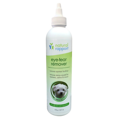 Natural Rapport Pet Dog Eye Tear Stain Remover Reduces Stains Eye Boogers Gunk