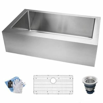 "Miseno MSS3320FF 33"" Single Basin 16-Gauge Stainless Steel Kitchen Sink for Farm"