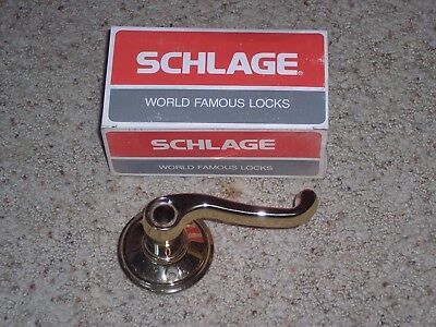 "Schlage ""dummy"" polished brass handles (FOR LEFT HAND DOORS) Qty=18"