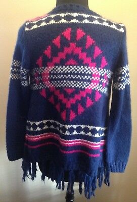 Arizona Jean Kids Girls L 14 Open Cardigan Sweater
