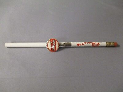 Dr Pepper Pencil Clip From The 1940's And Pencil From 1950's Be A Pepper Slogan