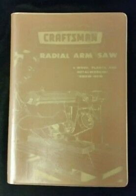 """Craftsman  Accra Radial Arm Saw  """"Know How"""" Manual Vintage 1959 Sears, Roebuck"""