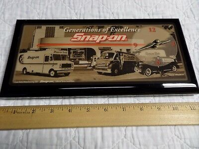 "Snap-on Tools Magnetic Toolbox Clock ""Generations of Excellence"""