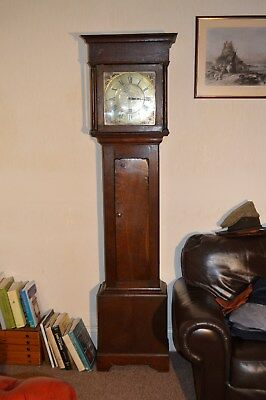 VERY RARE OAK  CLOCK by THOM;s WALLACE of BRAMPTON c1790/1810 FOR RESTORATION