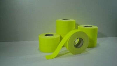 12000 Price Tags 21x16 L Yellow Permanent for Etimark Labeller 2HG-A/2HGA