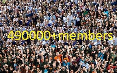 Share your link on 2 facebook groups with more than 490000 members