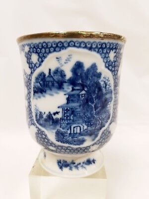 Antique Chinese Blue & White Nanking Cup