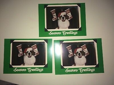 .Lot of 3 Christmas CARDs Marge Schott pete rose Cincinnati Reds vintage RARE ML