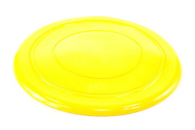 YELLOW SILICONE DOG FRISBEE, 18cm