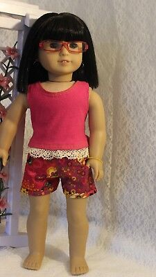 "New Handmade Clothes for 18"" American Girl Shorts and Top"