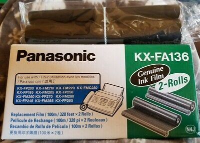 (1) PANASONIC KX FA136 Genuine Ink Film Replacement Film
