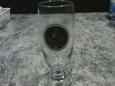 anheuser busch footed beer glass
