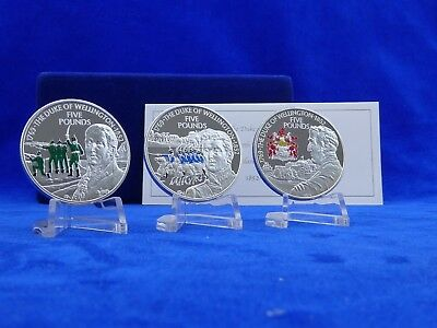 3x 5 Pfund Channel Islands 3-Coin Silver Set , Color , Silber*PP/Proof* (4575)