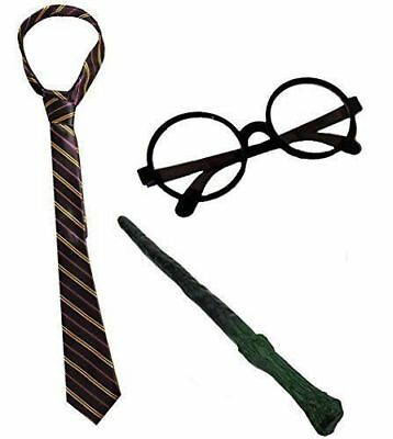 Wizard Potter Book Day Fancy Dress Glasses Wand Tie Choices Lot World Book Day