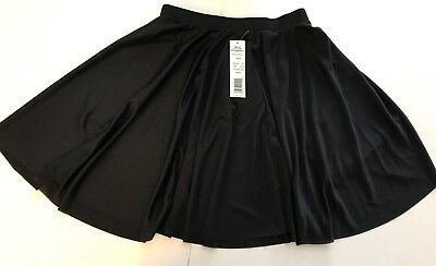 NWT Adult Size Large Black Dance Skater Short Flared Skirt by Body Wrappers