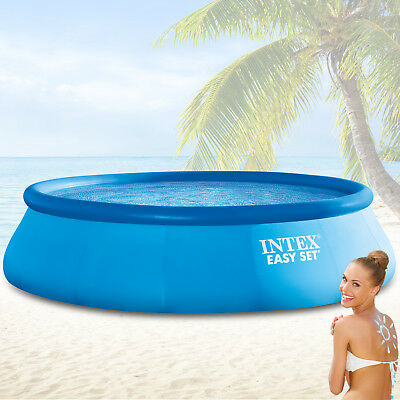 Intex 457x122 Schwimmbecken swimming Pool Schwimmbad Quick up swimmingpool easy