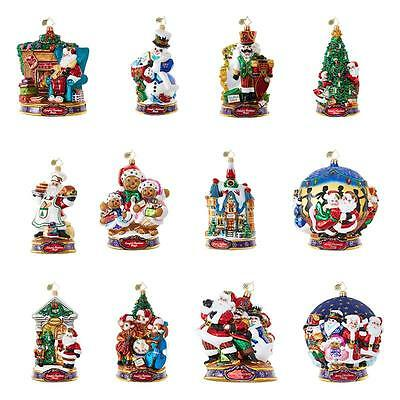 NEW 2017 Christopher Radko Kringle's Christmas Mingle 12 pc Set 6010171
