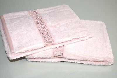 NEW FRETTE SEMPIONE PIZZO Lace GUEST HAND TOWEL Pink Beige Exquisite!! RARE!
